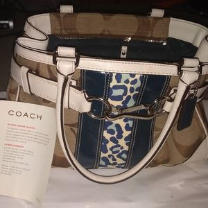 Coach Signature Hamptons CarryAll Purse *Authentic